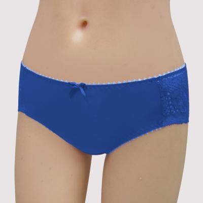 瑪登瑪朵-15AW-我罩妳包覆  低腰寬邊三角蕾絲褲(清雅藍)