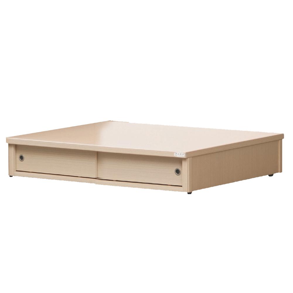 品家居 伯斯5尺二門加高收納床底(八色可選)-150x188x44cm免組