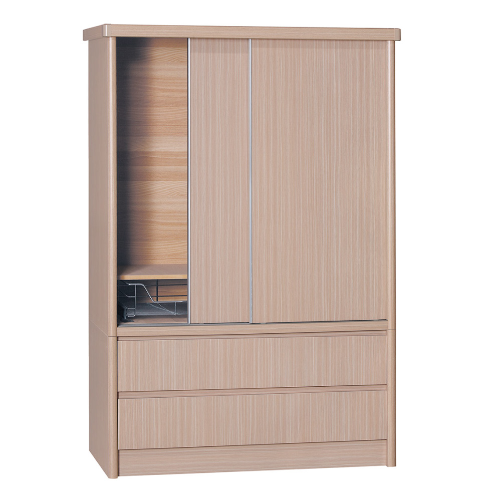 品家居 賈伯斯4尺雙抽衣櫃(五色可選)-120x60x180cm-免組
