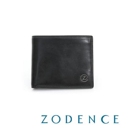 ZODENCE MAN 簡約系列兩折多卡層短夾 黑