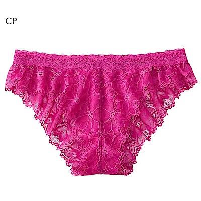 aimerfeel 性感全蕾絲緞帶半臀內褲-茜紅色
