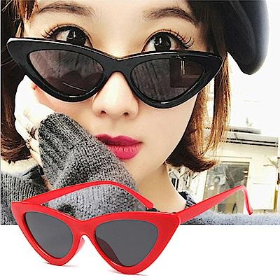 BeLiz 三角貓眼 歐美大方膠框墨鏡 紅