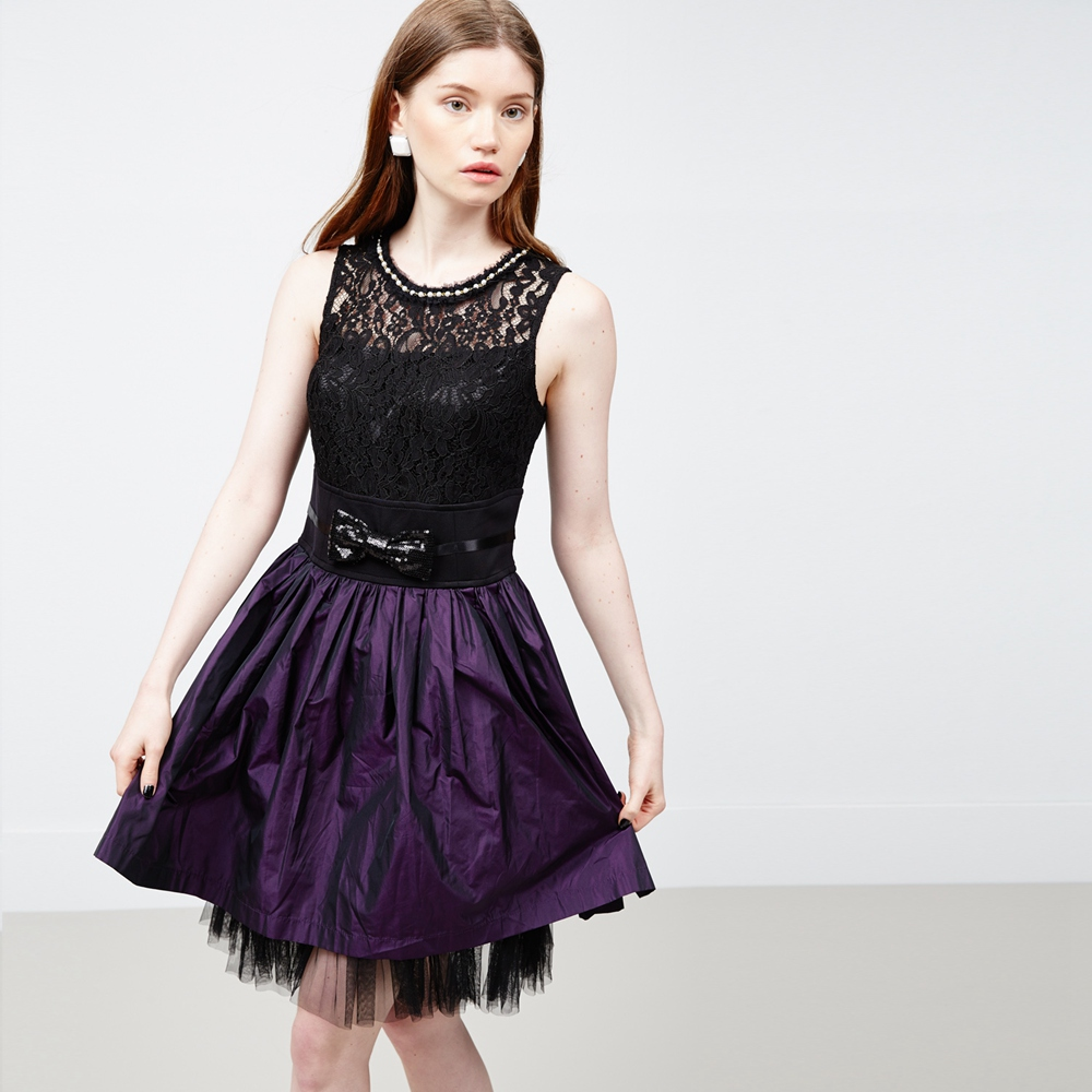 ICHE 衣哲 蕾絲拼接造型洋裝