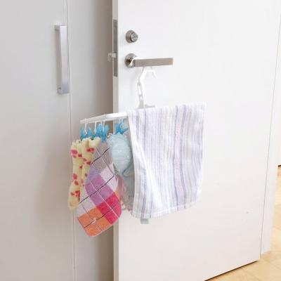 日本AISEN【室內機能】16夾曬衣架(粉藍)