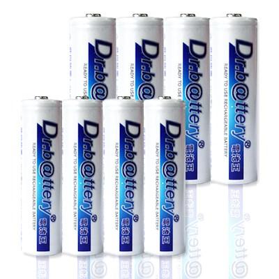 電池王 3號4顆+4號4顆低自放電/充電電池(8入)