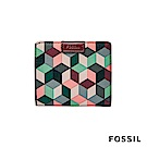 FOSSIL EMMA RFID迷你短夾-復古格紋( 限量款)