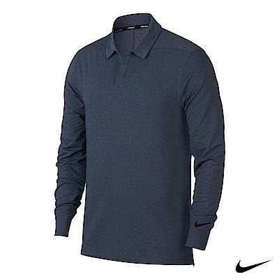 NikeGolf男運動長袖polo 藍 890711-471