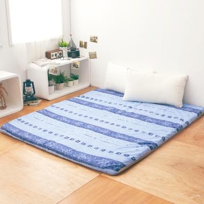 LAMINA  雅蓆兩用床墊-藍色拓葉5cm (雙人)