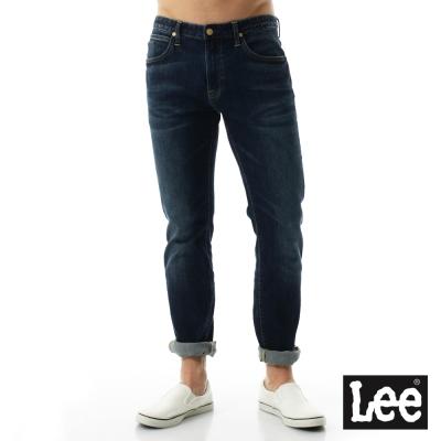 Lee 牛仔褲 722低腰修身直筒牛仔褲/RG - 男-深藍