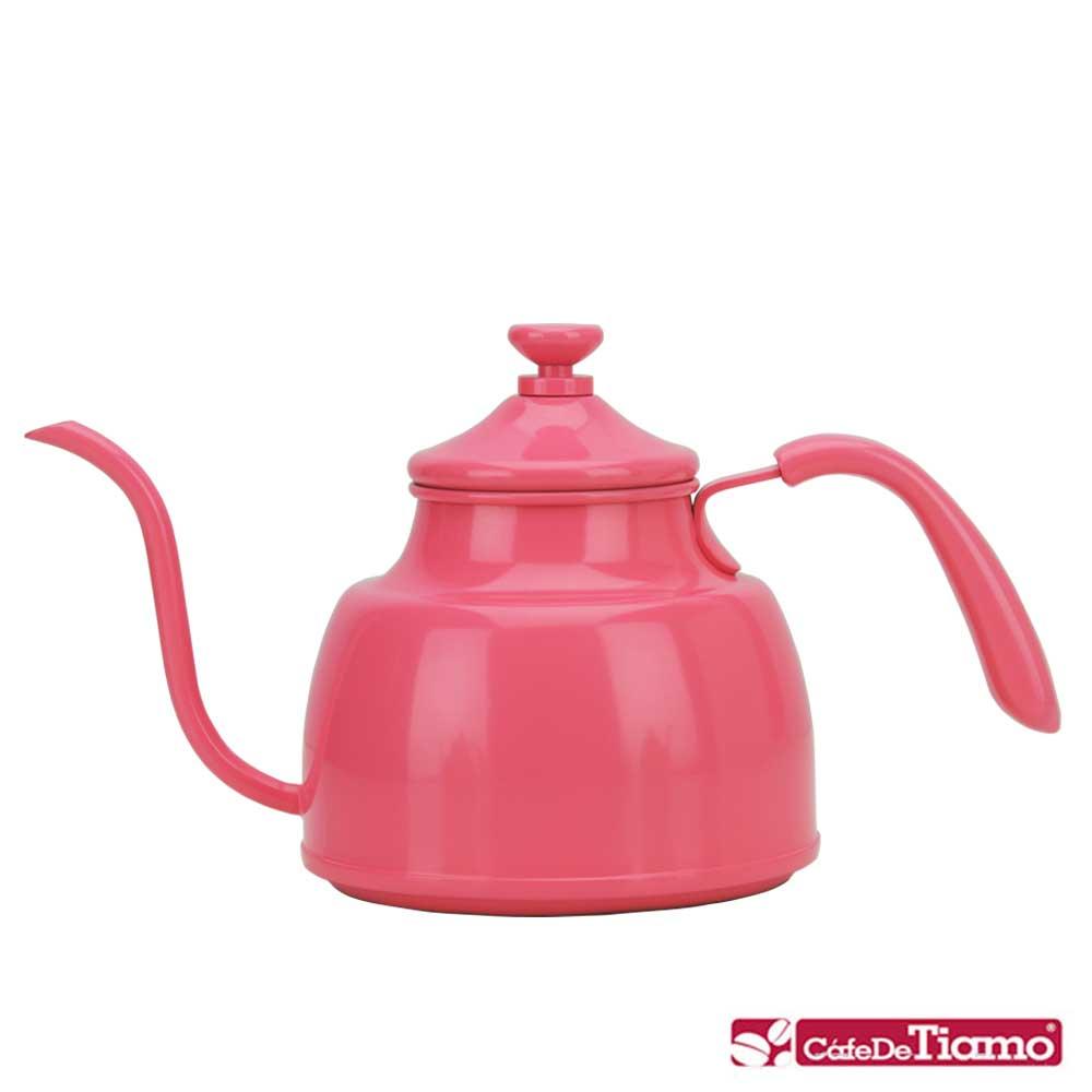 Tiamo 1018A 不鏽鋼細口壺-粉紅色 1.0L(HA1604PK)