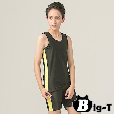 泳衣束胸 型男俐落無袖套頭泳衣+泳褲組(3XL-5XL)  BIG-T