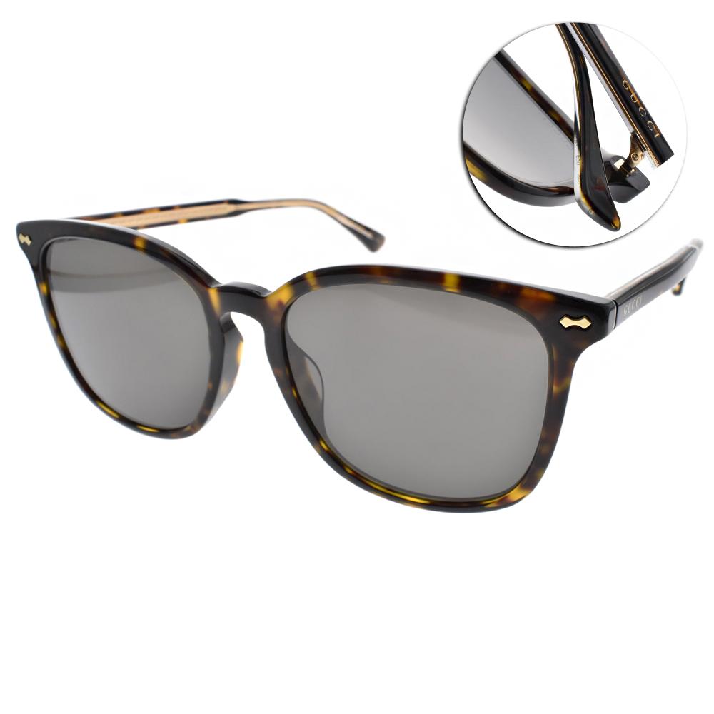 GUCCI太陽眼鏡 簡約時尚風/琥珀#GG0194SK 002