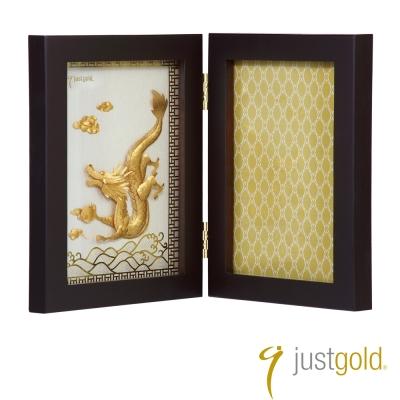 鎮金店Just Gold 擺件-龍躍雲津金箔木框相框
