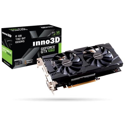 映眾顯示卡Inno3D GeForceGTX1060 6GB GDDR5 Twin X2