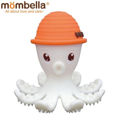 英國 Mombella 樂咬咬章魚固齒器 橘色