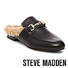 STEVE MADDEN-JILL 毛絨低跟穆勒鞋-黑色