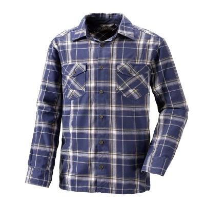 【ATUNAS 歐都納】男款保暖彈性長袖襯衫 A-S1107M 深藍格
