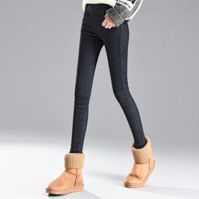La-Belleza保暖內裡加絨加厚仿牛仔內搭褲