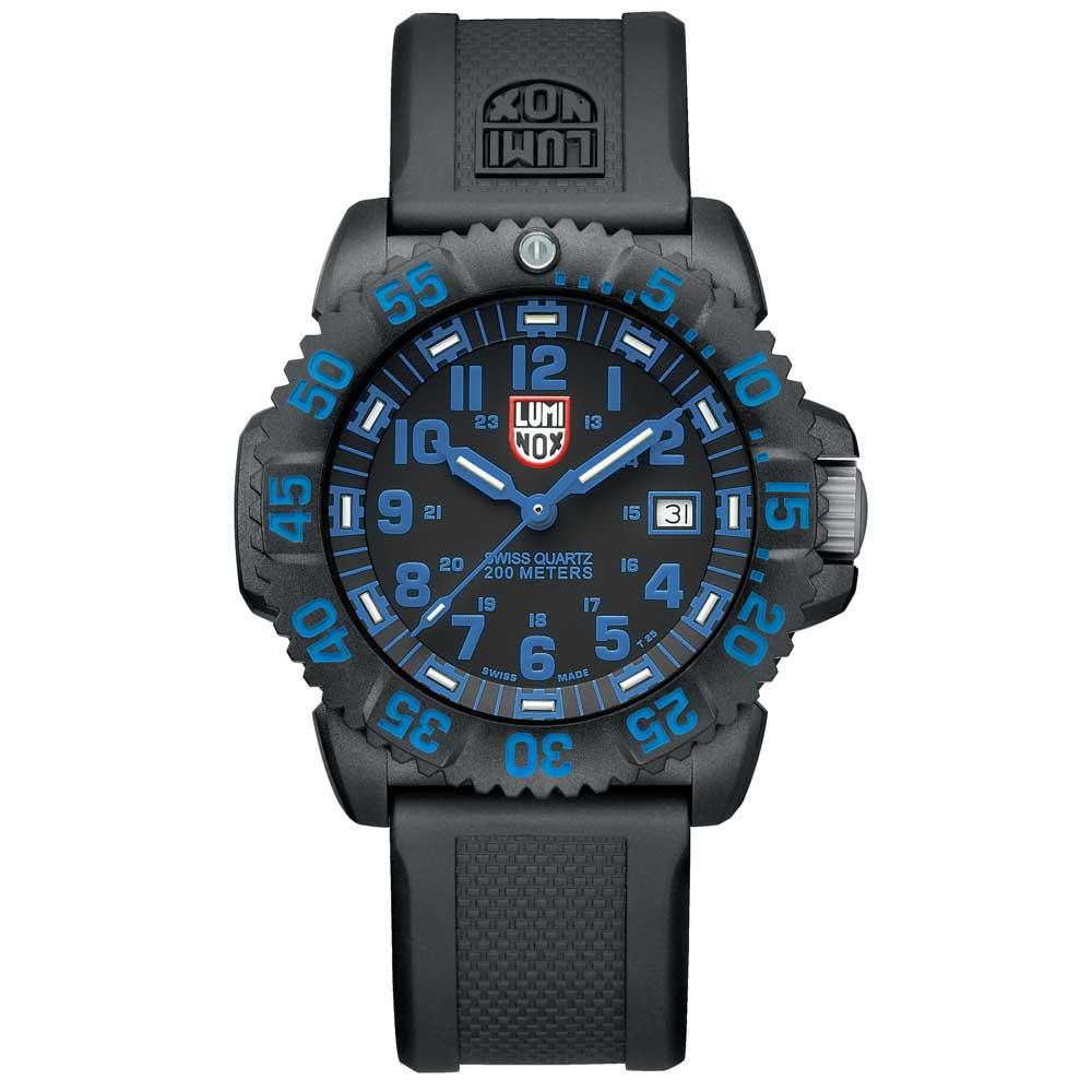Luminox 海豹部隊指標系列經典腕錶-黑x藍時標/44mm