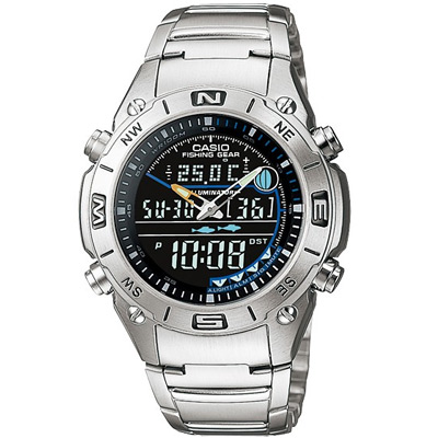 CASIO專業級狩獵捕魚雙顯時尚錶(AMW-703D-1A)-黑/41.5mm