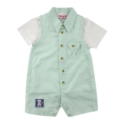 愛的世界 SUPERMINI 短袖POLO衫背心褲套裝/6M~2歲