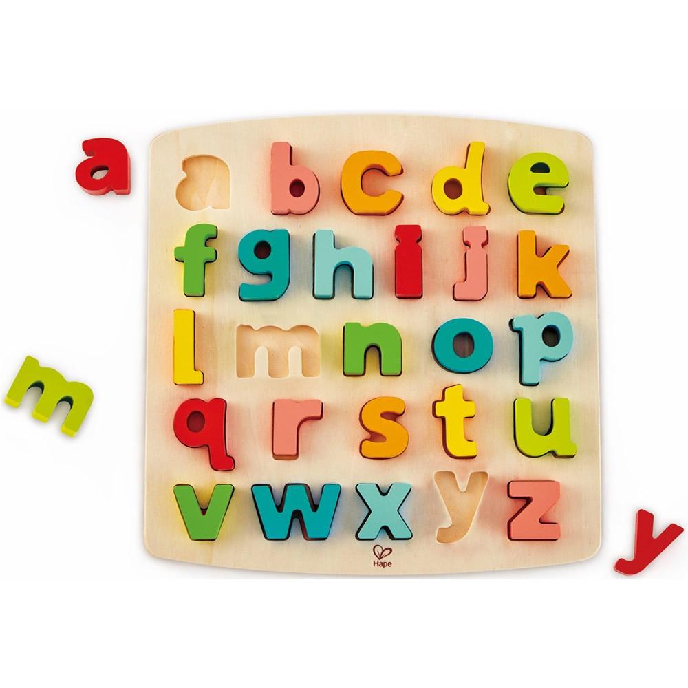 德國Hape愛傑卡 abc小寫立體木拼圖