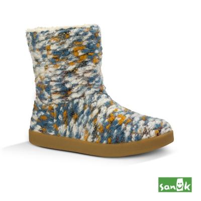 SANUK 針織軟羊毛低筒靴-女款(多色)