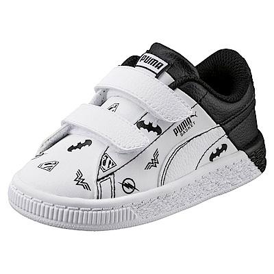 PUMA-JLBasketV PS孩童鞋-白黑色