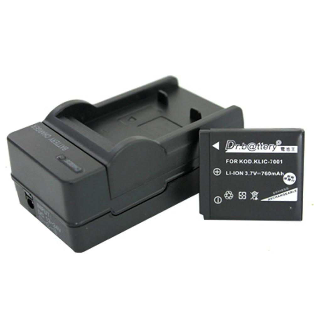 電池王 Kodak KLIC-7001 高容量鋰電池+充電器組