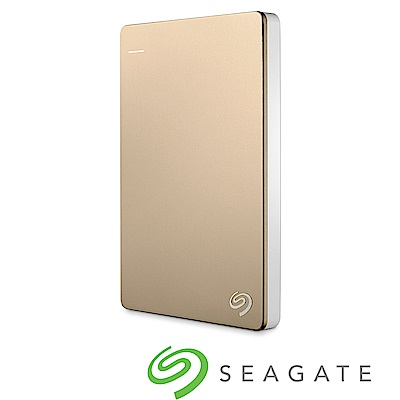 Seagate Backup Plus Silm 2TB USB3.0 2.5吋行動碟-金