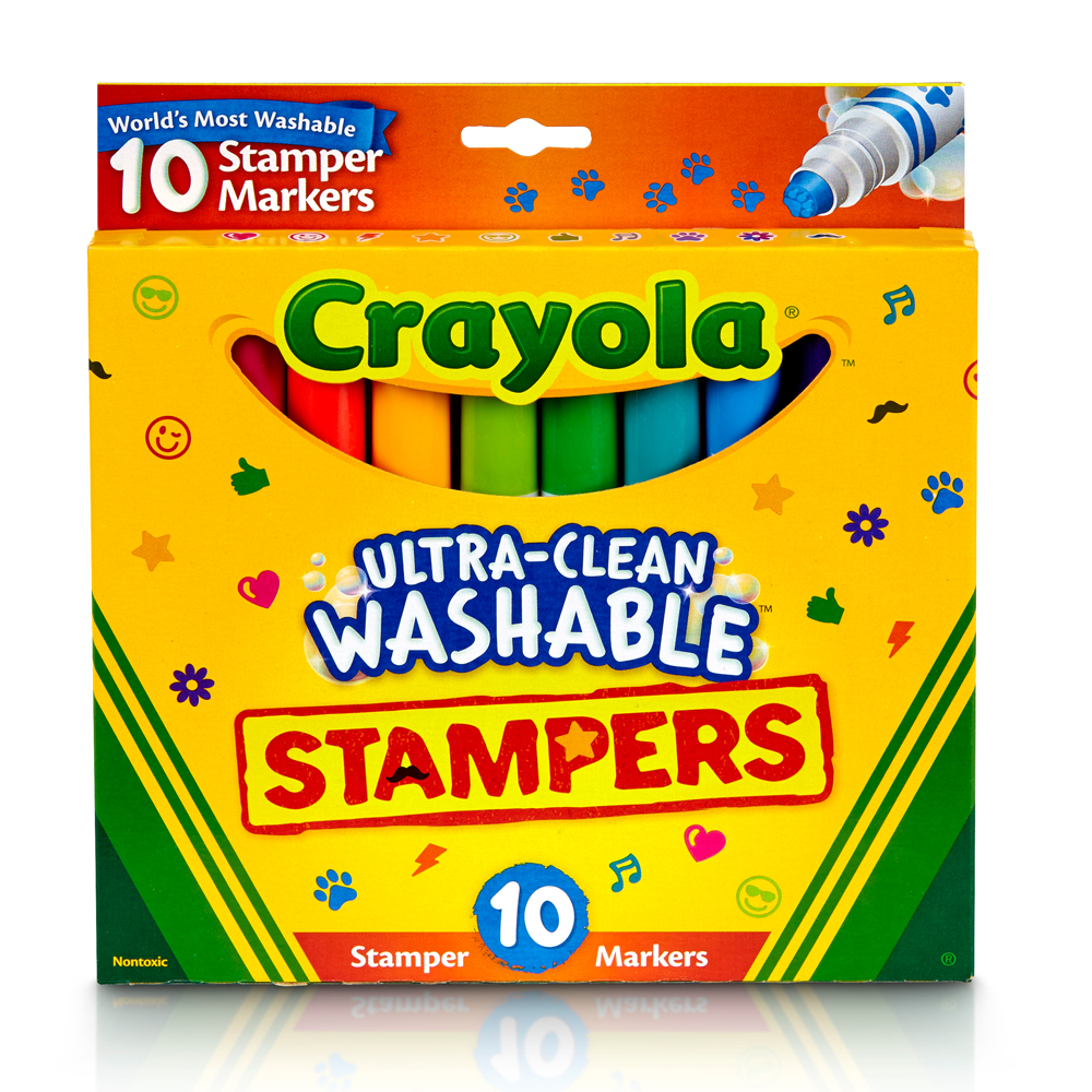 美國crayola繪兒樂 可水洗印章色筆10色(3Y+)