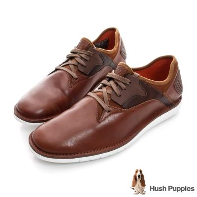 Hush Puppies ABRUPT 輕量風格綁帶鞋-棕色