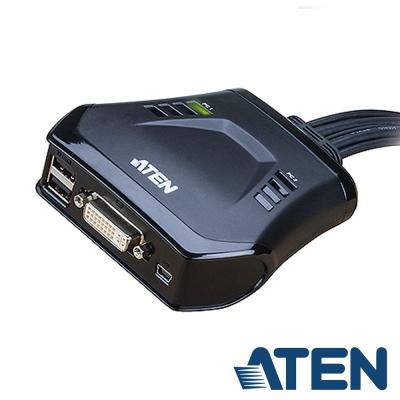ATEN  2埠 DVI KVM 切換器(CS22D)
