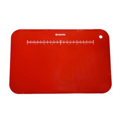 【KYOCERA】日本京瓷抗菌砧板附砧板架(紅)