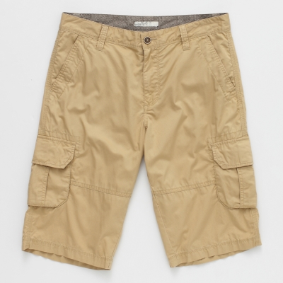 celio-英倫質感口袋百慕達短褲-男款-土黃色