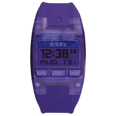 NIXON COMP S浪花海潮休閒運動電子錶-紫x小(A3362045)/31X26mm