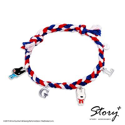 STORY故事銀飾-麗莎和卡斯柏-經典字母幸運手繩