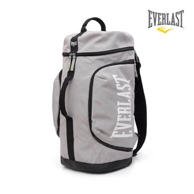 EVERLAST 拳擊運動品牌-多功能後背包-灰/白