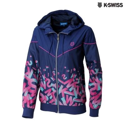 K-Swiss Gradient Windbreaker風衣外套-女-藍紫