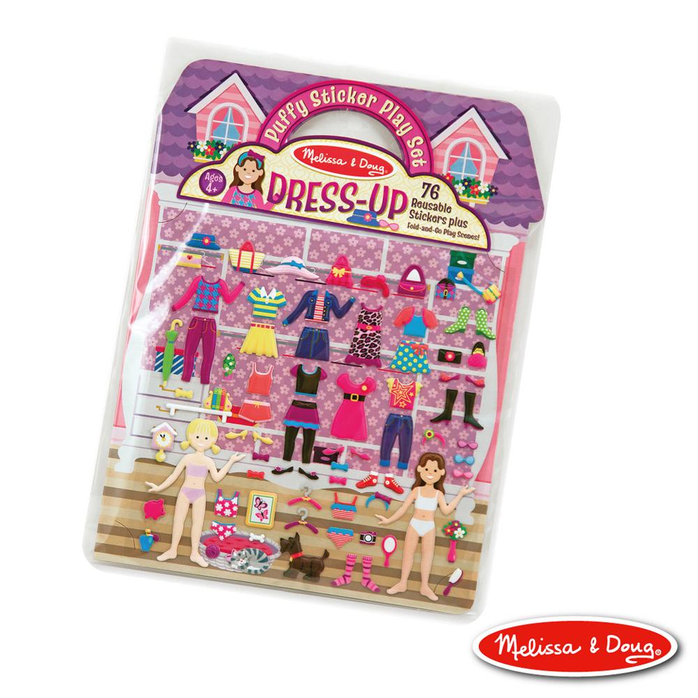 美國瑪莉莎 Melissa & Doug 可重複貼泡泡貼紙遊戲書 - 女孩時尚裝扮