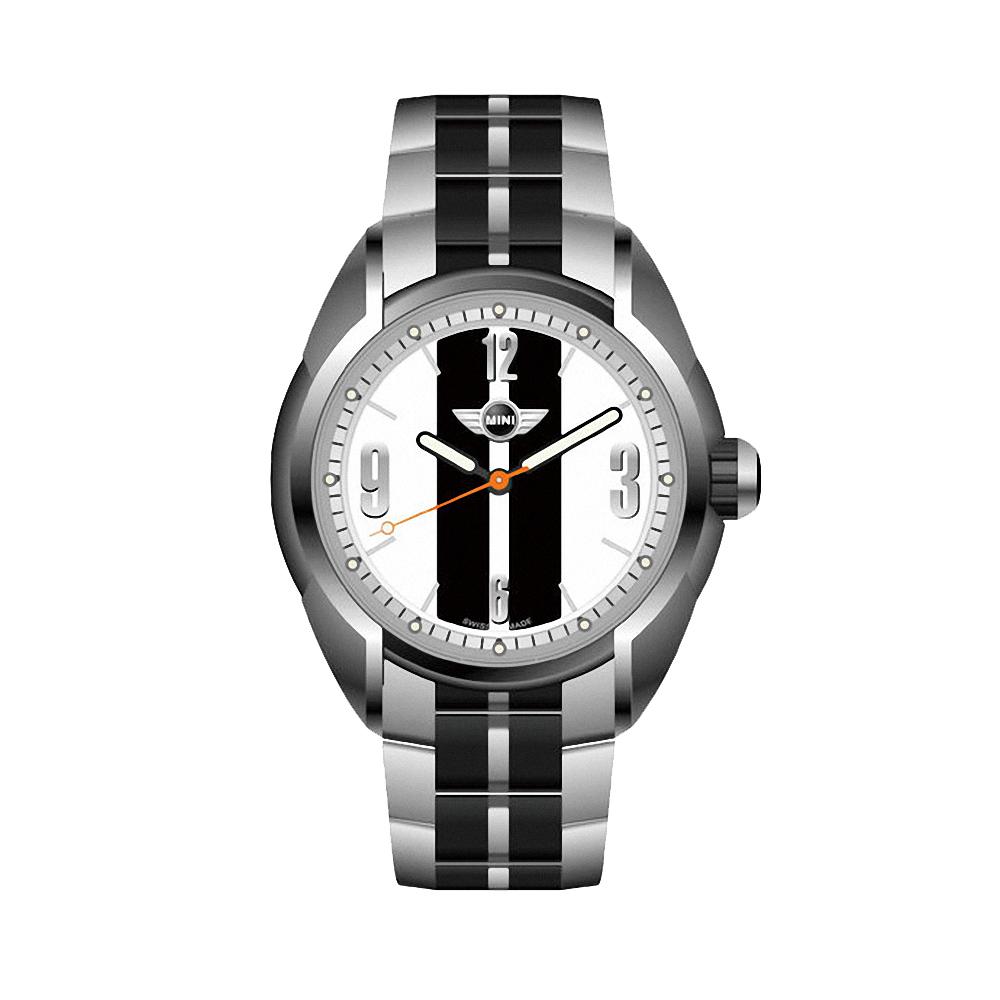 MINI Swiss Watches 經典Cooper原創概念設計款-銀x黑/38mm