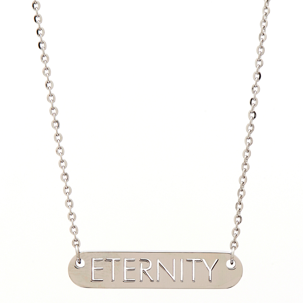 CK Calvin Klein 時尚雋永的ENTERNITYE 項鍊-銀色