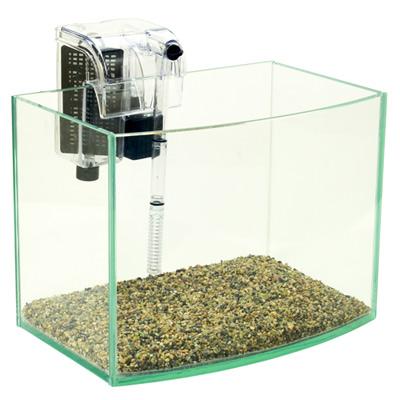 《清新風格》8吋海灣型玻璃水族箱套缸+專用過濾器(台灣缸)