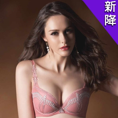 華歌爾-伊珊露絲印象巴黎D-E罩杯內衣(珊瑚粉)