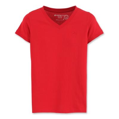 Hang Ten - 女裝 - 有機棉 基本多彩T-SHIRT-紅