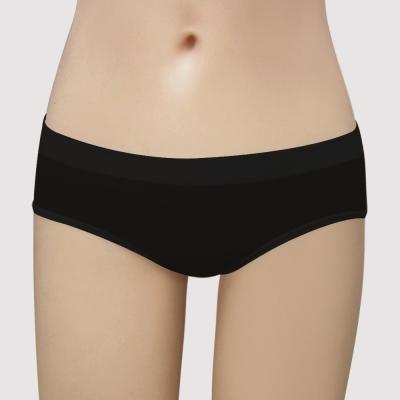 曼黛瑪璉-IceBar-低腰寬邊三角無縫褲-黑