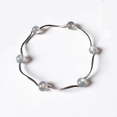 Hera 赫拉 925純銀天然珍珠月光草莓晶手鍊-3款