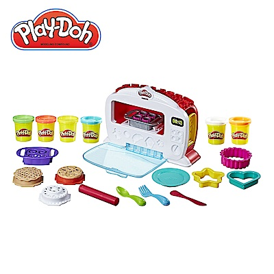 Play-Doh培樂多-廚房系列-神奇烤箱組+ 4 色組