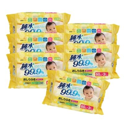 Weicker-純水99.9%日本製厚型濕紙巾-60抽x18包/組