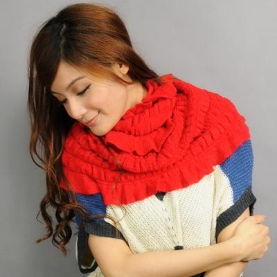 Aimee Toff 日系小品澤色良優暖滿圍脖(紅)